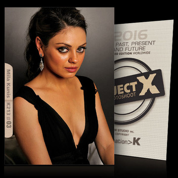 Mila Kunis / In Black [ ID: K213 #XX ] PROJECT X LIMITED EDITION CARDS