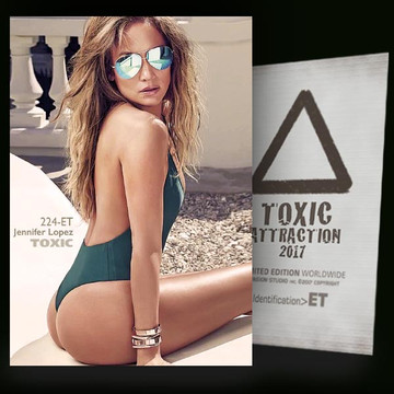 Jennifer Lopez / Sunglasses [ # 224-ET ] TOXIC ATTRACTION cards