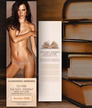Alessandra Ambrosio [ # 123-XBB ] Bookmarks for Books - Limited