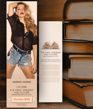 Amber Heard [ # 124-XBB ] Bookmarks for Books - Limited