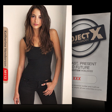 Katherine Henderson [ ID: M112 #XX ] PROJECT X LIMITED EDITION CARDS