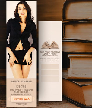 Famke Janssen [ # 133-XBB ] Bookmarks for Books - Limited