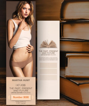 Martha Hunt [ # 147-XBB ] Bookmarks for Books - Limited