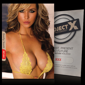 Emily Scott [ ID: M144 #XX ] PROJECT X LIMITED EDITION CARDS