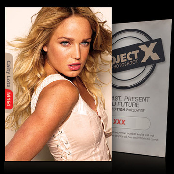 Caity Lotz / In white [ ID: M164 #XX ] PROJECT X LIMITED EDITION CARDS