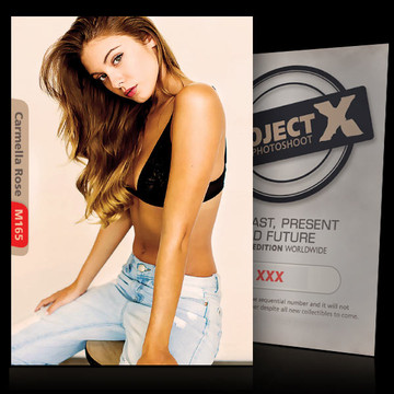 Carmella Rose / Blue Jeans [ ID: M165 #XX ] PROJECT X LIMITED EDITION CARDS