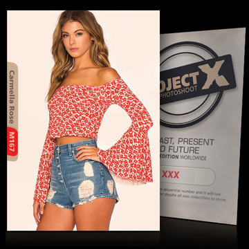 Carmella Rose / Short Jeans [ ID: M167 #XX ] PROJECT X LIMITED EDITION CARDS