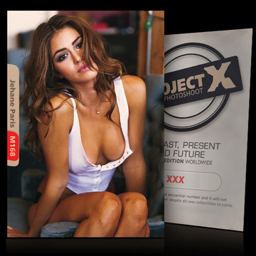 Jehane Paris / White Shirt [ ID: M168 #XX ] PROJECT X LIMITED EDITION CARDS