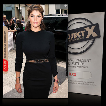 Gemma Arterton / In Black [ ID: M177 #XX ] PROJECT X LIMITED EDITION CARDS