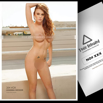 Leanna Decker [ ID: 204-VOX ] Toxic Reloaded 8.5 x 11  Numbered / Plastified