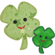 Mom and Baby Shamrock Applique
