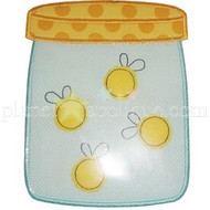 Lightning Bug Jar Applique