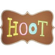 Hoot Applique