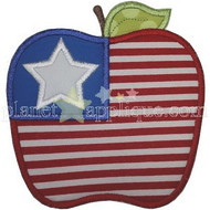 Apple Flag Applique