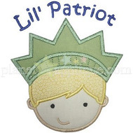 Lil Patriot Boy Applique