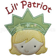 Lil Patriot Girl Applique