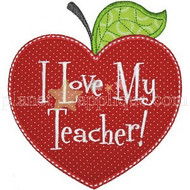 Love My Teacher Applique