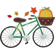 Fall Bicycle Applique