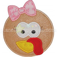 Girl Turkey Applique