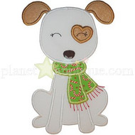Scarf Puppy Applique