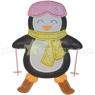 Ski Penguin Applique