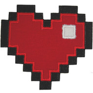8 Bit Heart Applique