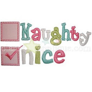 Naughty and Nice Applique