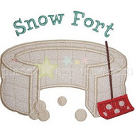Snow Fort Applique