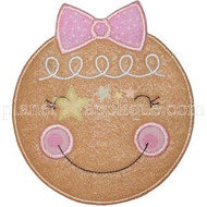 Girly Gingerbread Face