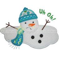 Melting Snowman Applique