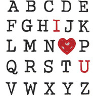 Alphabet Valentine