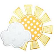 Sun and Cloud Applique