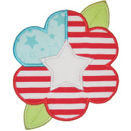 Flag Flower Applique