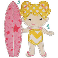 Surfer Girl Applique