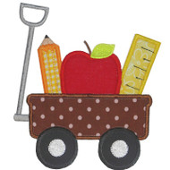School Wagon Applique