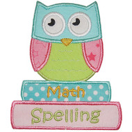 School Owl Applique