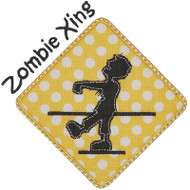 Zombie Crossing Applique