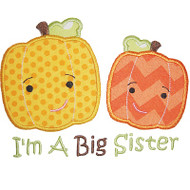 Sibling Pumpkin Applique