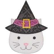 Witch Hat Cat Applique