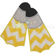 Scuba Flippers Applique