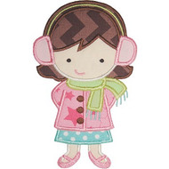 Winterland Girl Applique