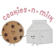 Cookies and Milk Applique