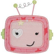 Robot Girl Applique