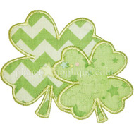 2 Shamrocks Applique