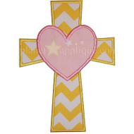 Cross Heart Applique
