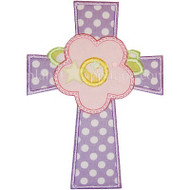 Cross Flower Applique