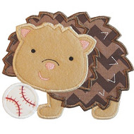 Baseball hedgehog Applique