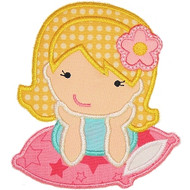 Pillow Girl Applique