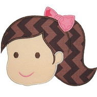 Bow Girl Applique