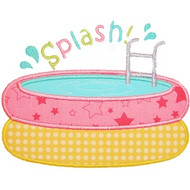 Pool Splash Applique